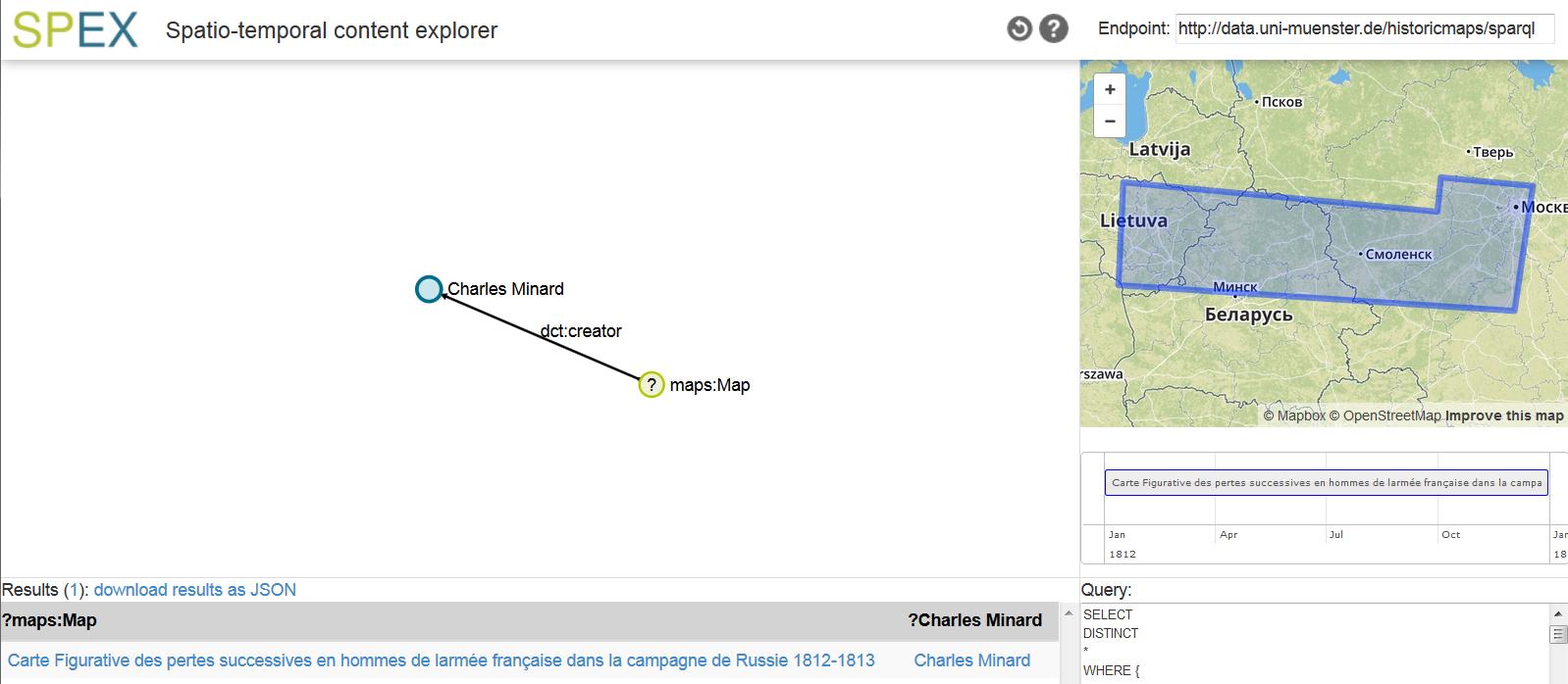 SPEX - Spatio-temporal content explorer
